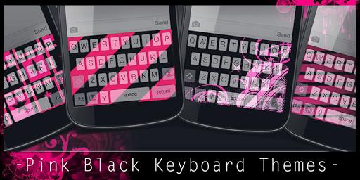 Pink Black Keyboard Themes