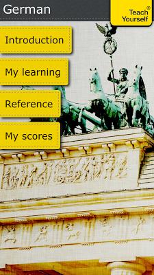 German course: Teach Yourself - screenshot