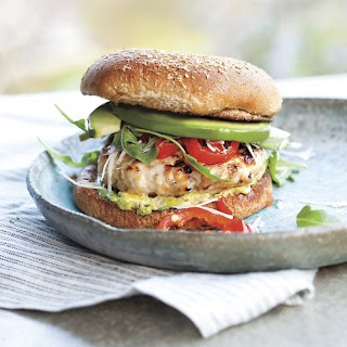 Mustard Turkey Burgers with Fresh Avocado