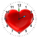 Love Heart Analog Clock Widget icon