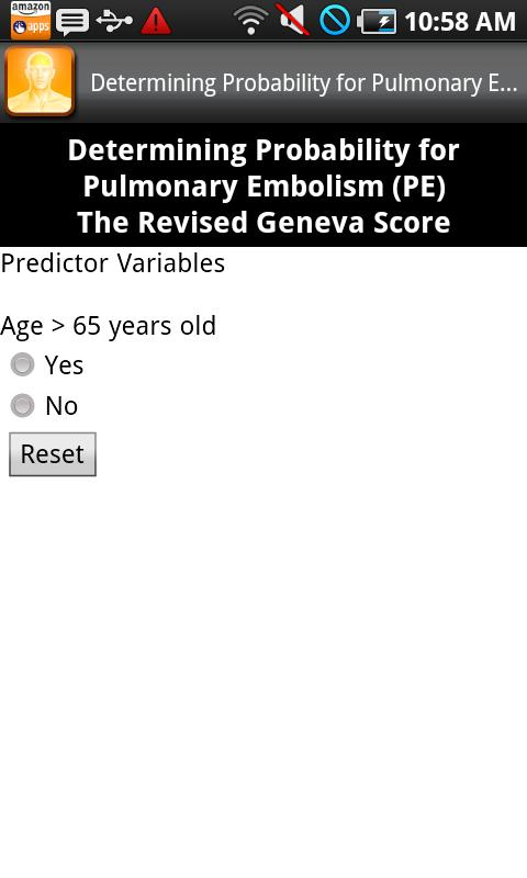 Clinical Prediction Rules Screenshot 4