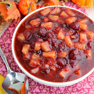 Spicy and Quick Cranberry Pineapple Chutney