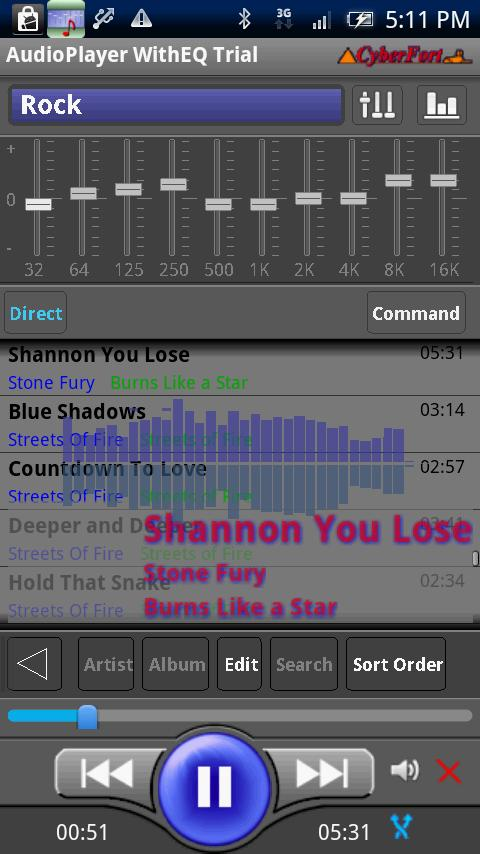 Audio Player WithEQ Trial - screenshot