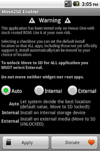 Move2SD Enabler (root only) - screenshot thumbnail