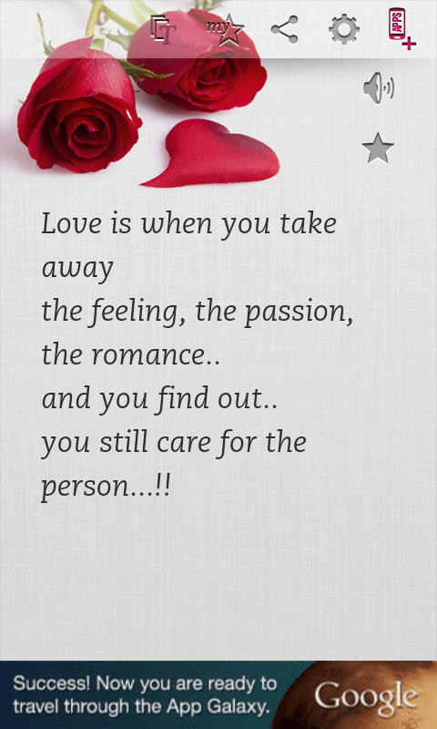 Love Romantic Quotes Entrancing Love & Romance Quotes  Android Apps On Google Play