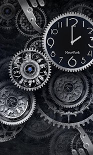 FREE Black Clock LiveWallpaper - screenshot thumbnail