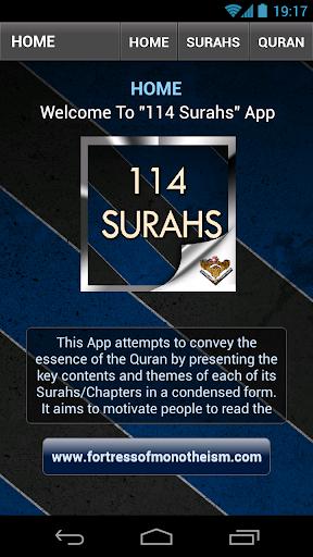 114 Surahs
