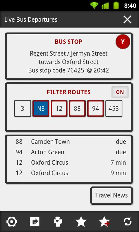 London Bus Master + Countdown - screenshot