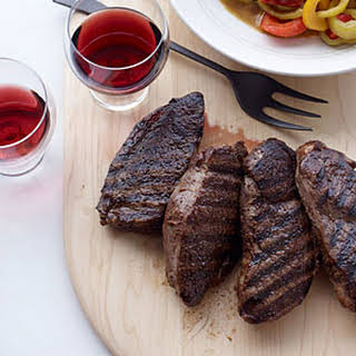 Lamb Steaks with Peppers and Cumin.