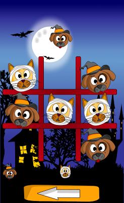 Cat Dog Toe Halloween -  Tic Tac Toe  - screenshot