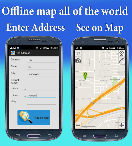 Address Finder and Offline Map
