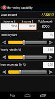 Screenshot of Easy Mortgage Calculator