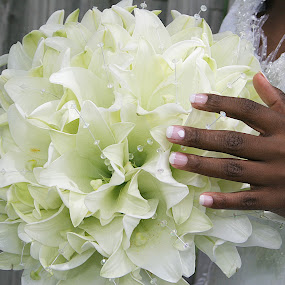 Beautiful Bouquet Lillies by Béanca Van Heerden - Flowers Flower Arangements ( bouquet, lillies, wedding flowers, Flowers, Flower Arrangements )