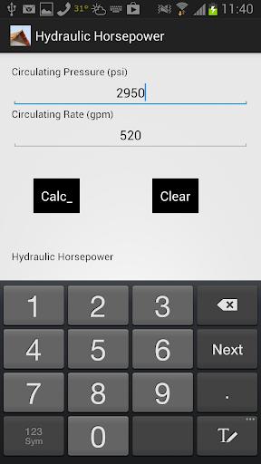 Hydraulic HorsePower