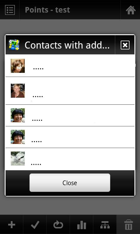 Locus - add-on Contacts - screenshot