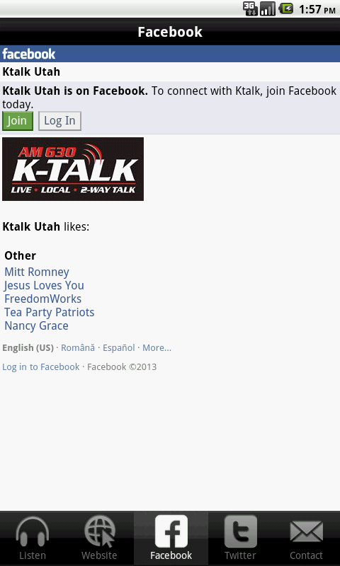 K-Talk Radio - screenshot