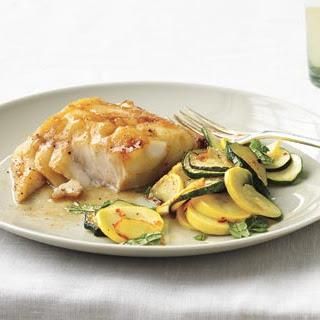Soy-Glazed Fish With Sautéed Summer Squash