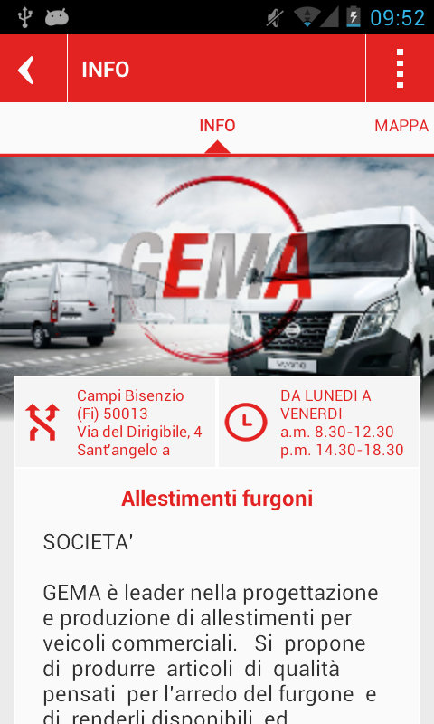 GEMA - Allestimenti - screenshot