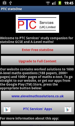 PTC GCSE and A-Level statsOne