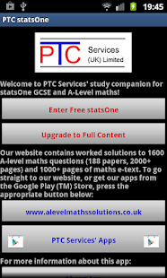 PTC GCSE and A-Level statsOne- screenshot thumbnail