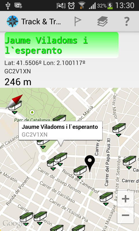 GPS tracks & routes andavia- screenshot