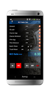 Water Cement Ratio Calculator- screenshot thumbnail
