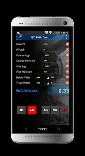 Water Cement Ratio Calculator - screenshot thumbnail