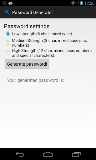 Simple Password Generator