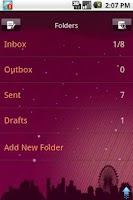 Screenshot of Easy SMS PurpleNight theme