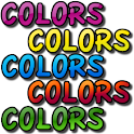 Colors in English icon
