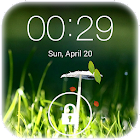 Spring live wallpaper lock icon