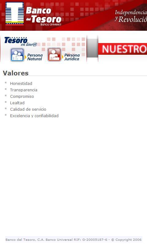 Banco del Tesoro - screenshot