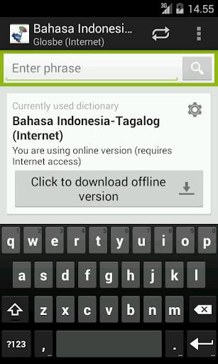 Indonesian-Tagalog Dictionary