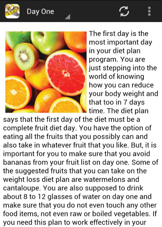 4 Day Diet Plans: Android Apps On Google Play
