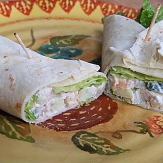 Crunchy Chicken Salad Wraps.