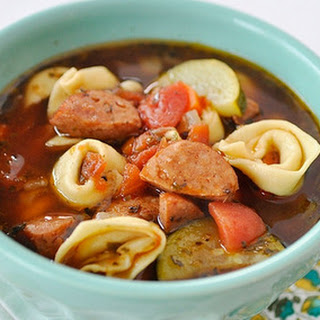 Sausage and Tortellini Soup.