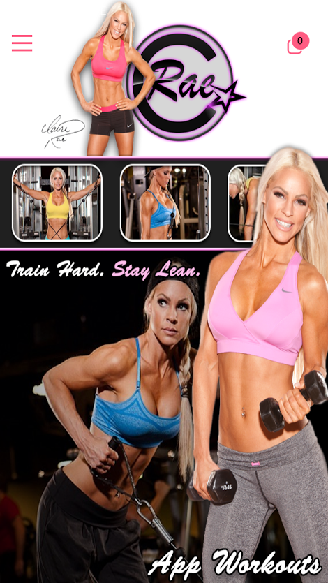 Claire Rae Fitness- screenshot