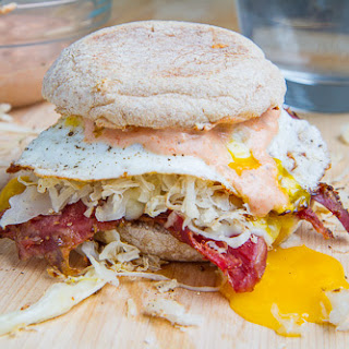 Breakfast Reuben Sandwich.