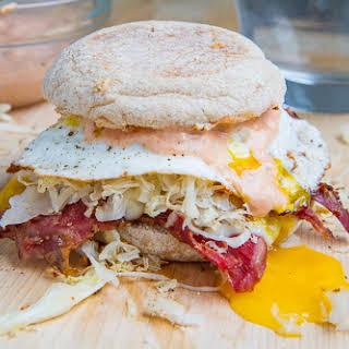 Breakfast Reuben Sandwich.