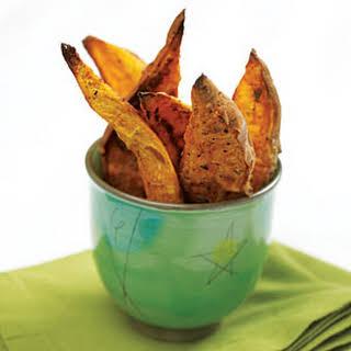 Oven-Roasted Sweet Potato Wedges.