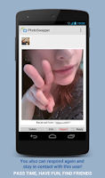 Screenshot of PhotoSwapper - photo chat