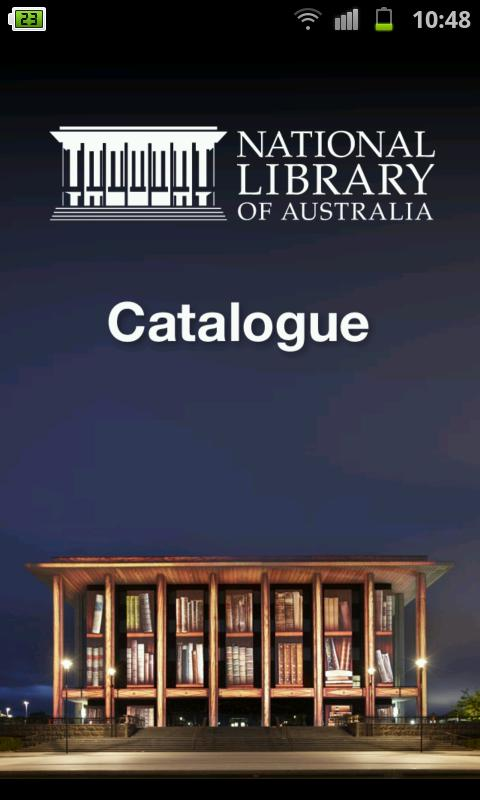 NLA Mobile Catalogue - screenshot