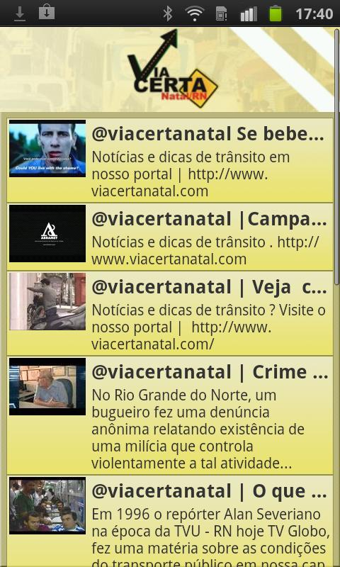 Via Certa Natal Trânsito - screenshot