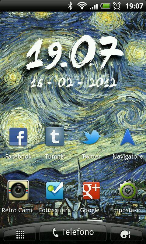Starry Night Live Wallpaper - screenshot