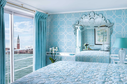 Uniworld-River-Countess-suite-view - Wake up to views of Venice and other awe-inspiring venues during your sailing through Italy aboard Uniworld's River Countess.