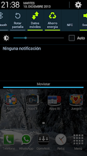 Open Notification Bar Capture d'écran