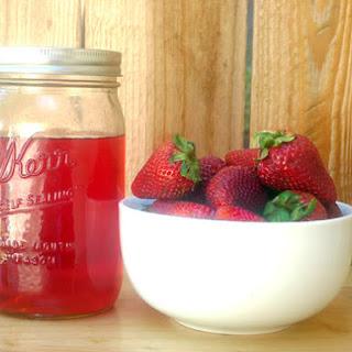 DIY Strawberry Liqueur.