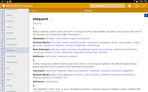 Dictionary - M-W Premium Screenshot
