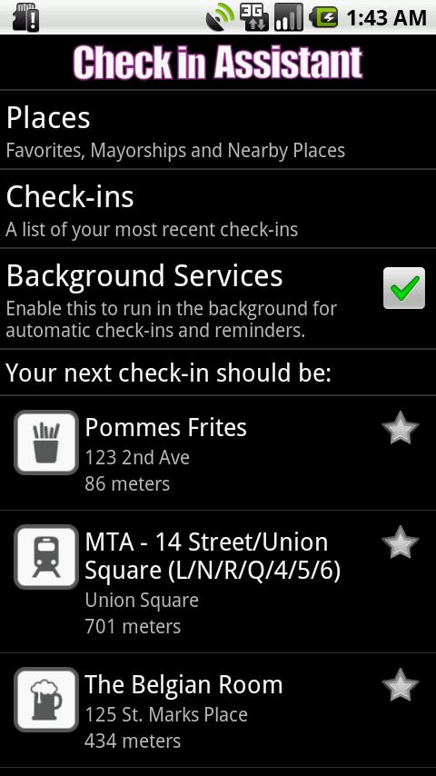 Check in Assistant- screenshot