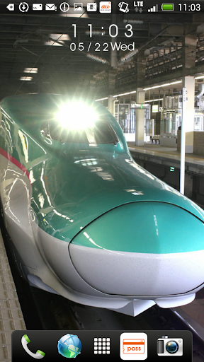 日本の鉄道車両 時計付きライブ壁紙